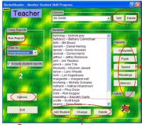 RocketReader teacher monitor window